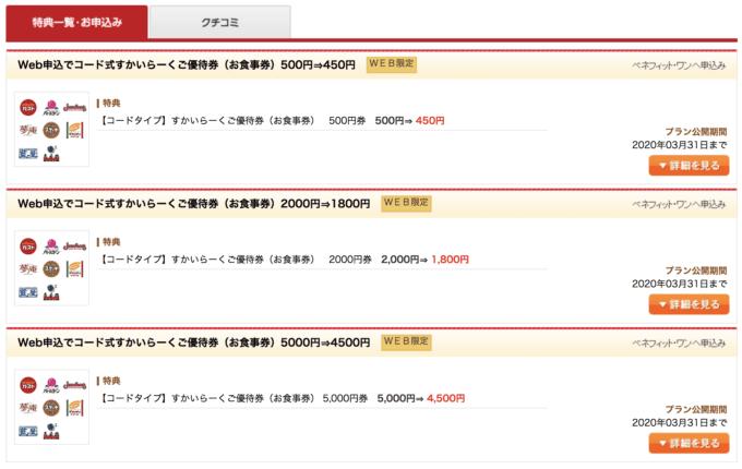 【デイリーPlus(ベネフィット)限定】ガスト「50円割引・200円割引・500円割引」ご優待券