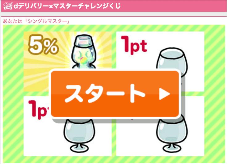 dデリバリーくじ「5%〜15%OFF」クーポン
