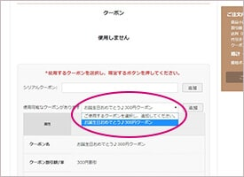 【使い方】ベアミネラルのクーポン利用方法2
