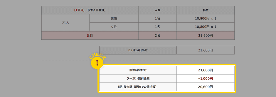 【使い方】ゆこゆこネットのクーポン利用方法3