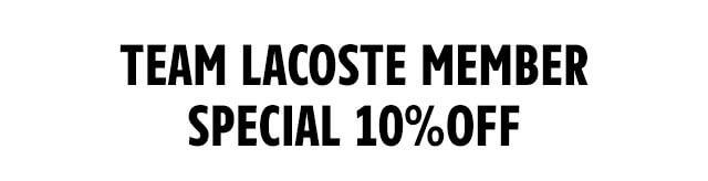 【会員限定】ラコステ(LACOSTE)「10%OFF」割引クーポン