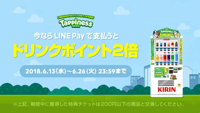 【ドリンク限定】LINEPay(ラインペイ)「ポイント2倍」還元キャンペーン