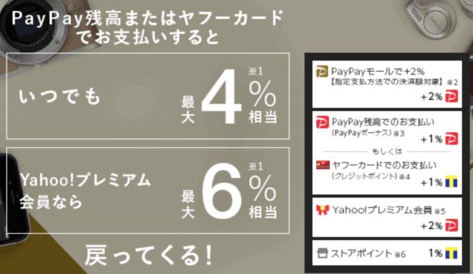 【期間限定】PayPayモール「各種割引」クーポン・キャンペーン