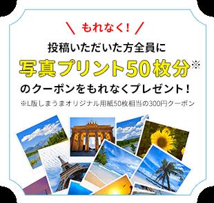 【期間限定】しまうまプリント夏旅「写真50枚分」インスタグラムクーポン