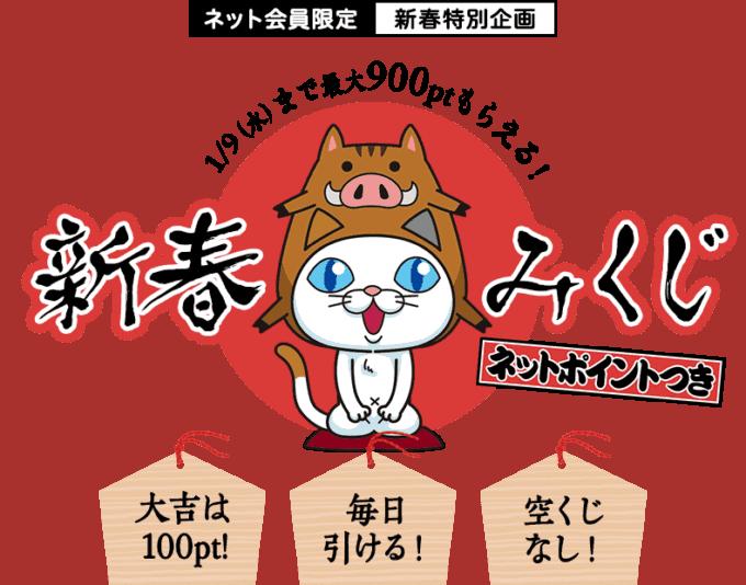 【ネット会員限定限定】DHC「最大900円OFF」新春おみくじ