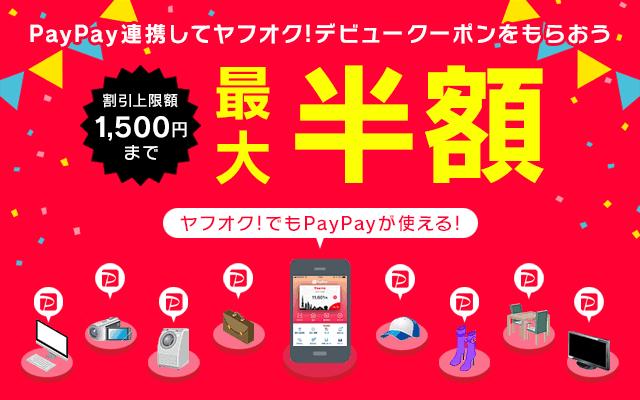 【ヤフオク限定】paypay(ペイペイ)「最大50%OFF」半額デビュークーポン