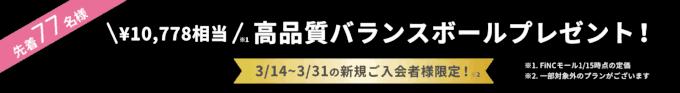 【先着限定】FiNC Fit ボディデザインプログラム「約1万円分無料」高品質バランスボールプレゼント