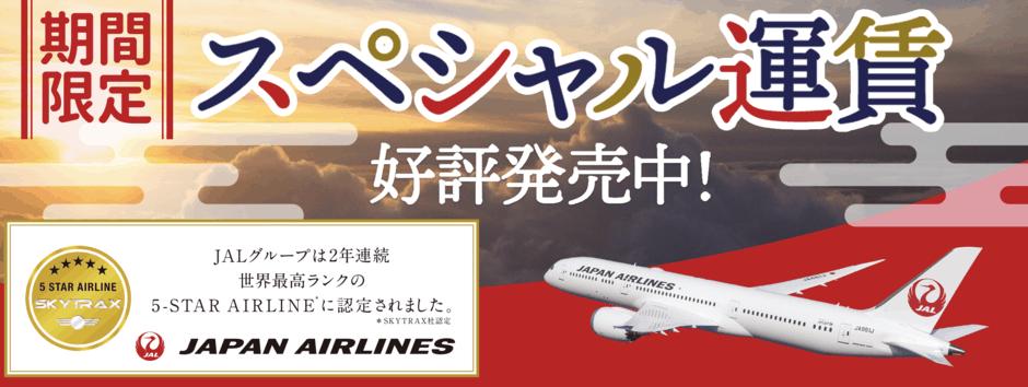 【日本航空(JAL)限定】スカイチケット「各種割引」お得な国内プラン