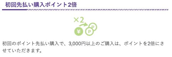 【初回先払い限定】電話占いヴェルニ「購入ポイント2倍」キャンペーン