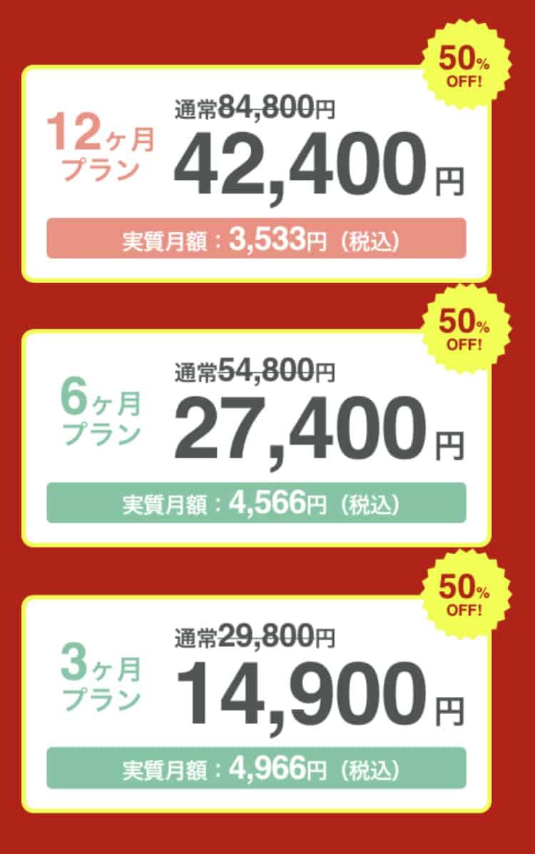 【期間限定】paters(ペイターズ)「50%OFF」半額キャンペーン