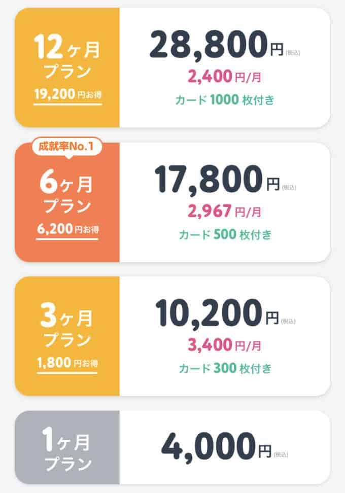 【月額課金プラン】タップル(tapple)「最大1万9200円OFF」各種割引有料プラン