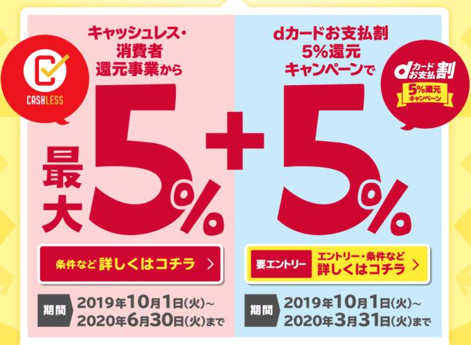 【期間限定】dカード「最大10%ポイント」還元キャンペーン