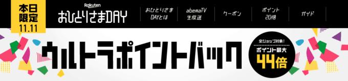 【11月11日限定】楽天ふるさと納税「ポイント最大44倍」ウルトラポイントバック
