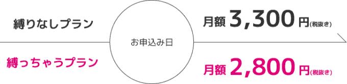 【縛っちゃうプラン限定】縛りなしWiFi「月額2800円」料金プラン