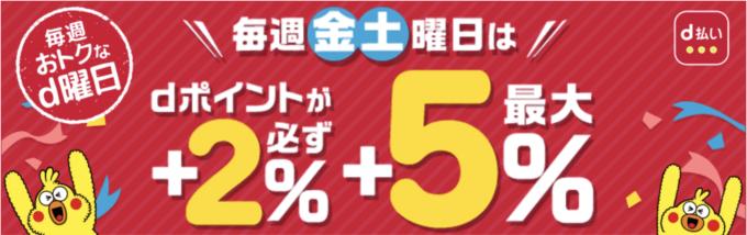 【d払い限定】エルブレス(L-Breath)「最大5%分dポイント」d曜日(毎週金土曜日)キャンペーン