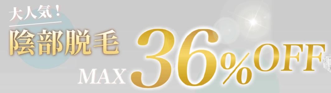 【先着30名限定】RINX(リンクス)「36%OFF」VIO(陰部)脱毛キャンペーン