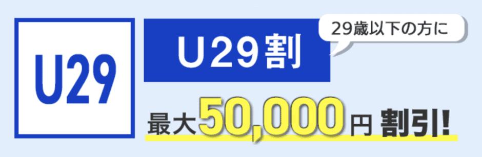 【29歳以下限定】メンズキレイモ「最大50,000円OFF」U29割キャンペーン